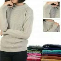 Baju Rajut Wanita Korea Roundhand Turtleneck Sweater Murah