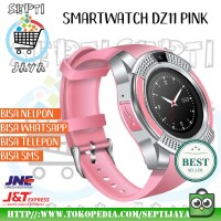 DZ11 Smartwatch Jam Tangan Hp For Android Ios Watch V8 Pink Ping Muda