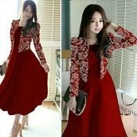 Gamis Dress Hm St Famous Maxi Syari Pakaian Muslim Wanita Baju AHB5063