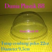 Harga isi50pc tutup gelas cembung polos 22oz dome lid cup gelas plastik | Pembandingharga.com