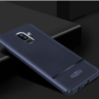 Case Samsung J8 2018 softcase casing hp cover anti shock LEATHER ARMOR