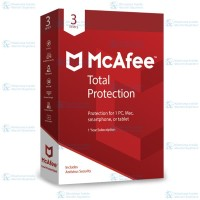 McAfee® Total Protection™ Software Antivirus 2018(3 Devices/1 Year)