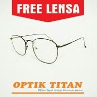 Harga frame kacamata minus baca pria wanita nn 8261 coklat | Pembandingharga.com
