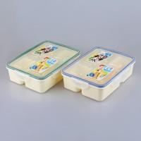 Kotak makan Lunch Box 4 sekat BPA Free Yooyee #318
