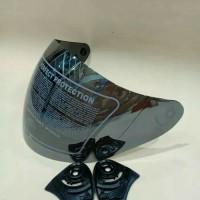 Kaca helm/visor helm kyt dj maru/kyt Galaxy/ink centro silver