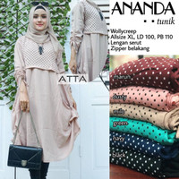 Baju wanita remaja dewasa atasan ananda tunik muslim modern modis top