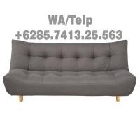 Sofa Modern Minimalis Dua Dudukan Kayu Jati Asli Jati