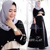 Baju Wanita Gamis Hitam - Pakaian Muslim Wanita - Baju Hijab Murah -