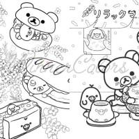 Jual Rilakkuma Japanese Coloring Book Buku Mewarnai Rilakkuma