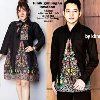 couple dress dan kemeja full furing hem batik tunik gunungan lawasan