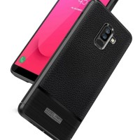 LEATHER ARMOR case Samsung J8 2018 softcase casing hp cover anti shock