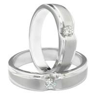 cincin tunangan/kawin/nikah sepasang couple emas putih mas 375% MURAH!