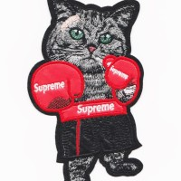 Iron Patch Cat Supreme 18x10Cm No Custom Emblem Bordir Tempel