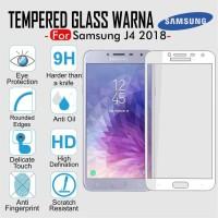 Tempered Glass Warna Full Cover Screen Guard Color HP Samsung J4 2018