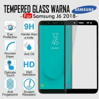 Tempered Glass Warna Full Cover Screen Guard Color HP Samsung J6 2018
