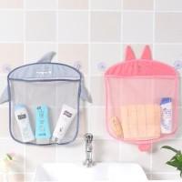 gantungan kantong penyimpanan mainan serbaguna kamar mandi
