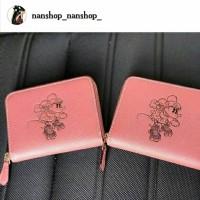 Dompet Coach Mini Wallet Minnie Mouse Pink Leather Original 5651698969