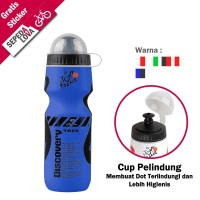 Botol Minum Sepeda Discovery Dengan Cup Pelindung