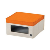 LOCK&LOCK Eco Living Window Box S Orange Kotak Penyimpanan LLB244O