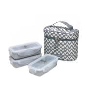LOCK&LOCK Lunch Box 3P Set Clover Bag (HPL754CDS/HPL754CIS)