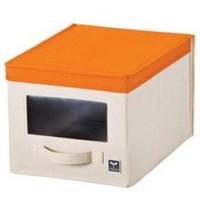 LOCK&LOCK Eco Living Window Box M Orange Kotak Penyimpanan LLB245O