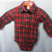 kemeja flanel/pakaian/baju anak laki laki 12M/bekas/preloved