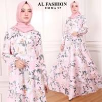 Maxi Emma Aster Baju Muslim Wanita Gamis Model Kekinian Terbaru