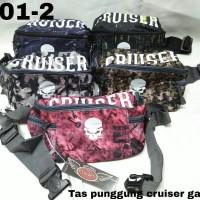 Tas Punggung Pria Casual Canvas Import Waist Bag Merk Cruiser 3101-2