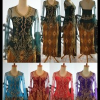Baju Kebaya Modern Lengan Panjang Brokat Tile Cornelli Wisuda Pesta
