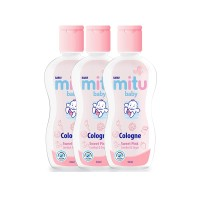 Mitu Baby Cologne Sweet Pink [Flip Top 50ml - 3pcs]