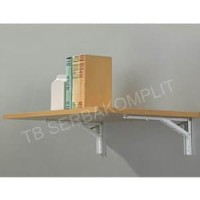 Harga rak siku lipat 12in folding shelf bracket tembok lipat mej new | antitipu.com