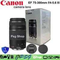 CANON EF 75 - 300mm F4-5.6 III LENSA CANON TELE ZOOM KAMERA CA Limited