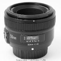 Lensa Fix Nikon 50mm F1 8 AFS Auto Fokus untuk D3000 D3100 Berkualitas