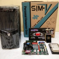 Komputer Cpu Gaming Rakitan Core 2 Duo E8400 3,0G + Mb.G31 Ddr2 2nd