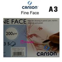 Canson Fine Face A3 200gsm isi 5 Lembar - Terlaris dan Termurah