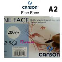 Canson Fine Face A2 200gsm isi 5 Lembar