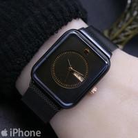 Jam Tangan Wanita/Cewek merk Iphone Analog Tanggal Rantai Pasir Magnet