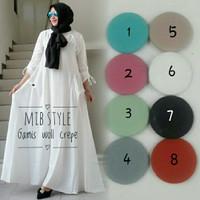 Gamis Cantik Simple Muslimah/ Umbrella Dress Wollycrepe