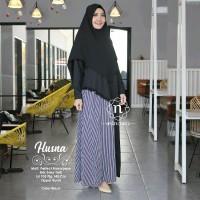 Gamis Syari Modern Baju Muslim Wanita Kekinian Longdress HUSNA ori NW