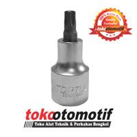 Sok Bintang / Torx Bit Socket T27 Pendek TOPTUL Original