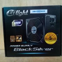 Power Supply Enlight Black Silver 500 Watt 80+ Bronze