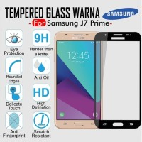 Tempered Glass Full Cover Screen Guard Color Thin HP Samsung J7 Prime