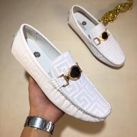Sepatu kulit casual versace loafer branded pria cowok kw mirror