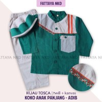Setelan Koko Anak Fattaya,Adib, Size 7, Baju Taqwa Anak