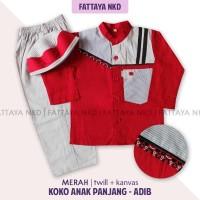 Setelan Koko Anak Fattaya,Adib, Size 9, Baju Taqwa Anak