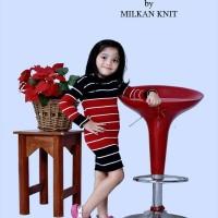 Adila comby mini dress anak baju rajut murah pakaian perempuan