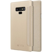Nillkin Sparkle Leather Flip Case Samsung Galaxy Note 9 Gold
