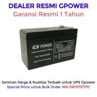 Aki UPS Gpower 12V - 7ah. Batere UPS / Battery UPS / Aki Kering UPS