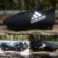 Sepatu Bola Adidas X 17 Purechaos Kids /Anak-anak Hitam-Putih GradeOri