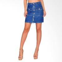 Rok Mini Wanita Skirt Mint - Blue